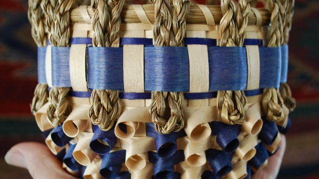 Passamaquoddy basket by Clara Keezer