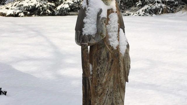 Kuan Yin in snow